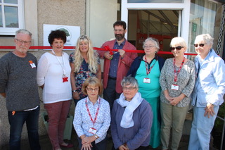 The opening ceremony of the Falkland Community Library.